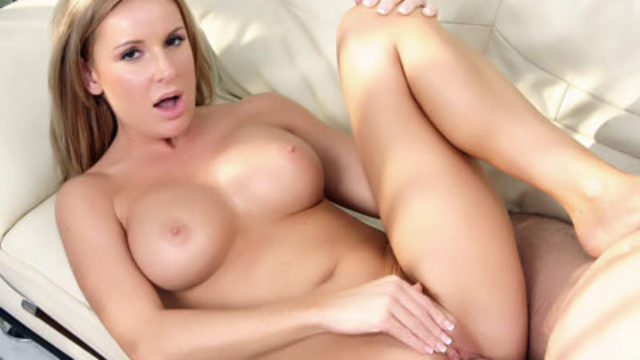 Buxom Light-haired Older Woman Laura Monroe