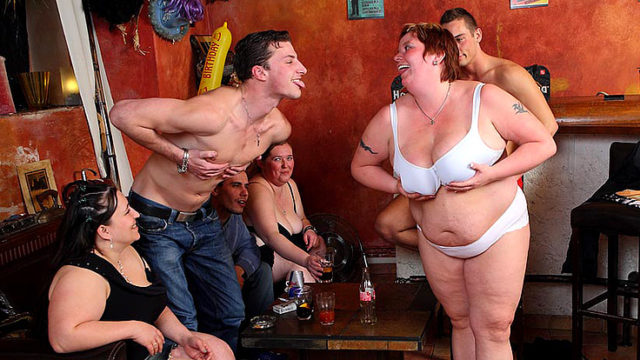 Fats Dame Orgy With Fine Oral Activity