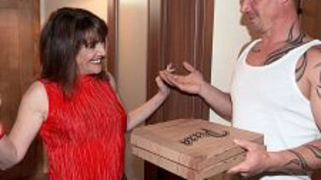 Leave Behind The Pizza. This Mother I Would Like To Fuck Is Thirsty For Knob.