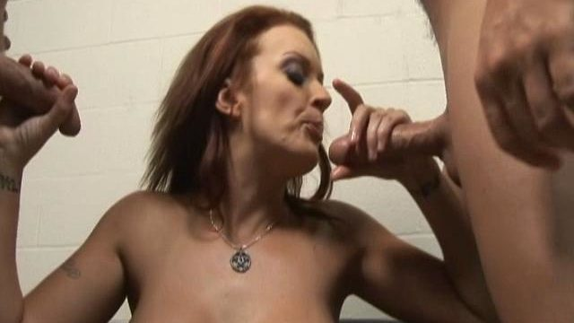 Monica Mayhem Helps These Two Rock Laborious Dicks Spunk