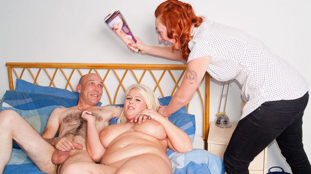 Meaty Blond Does Tugging Boy