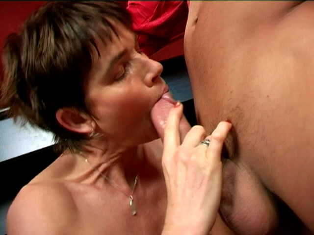 Brief Haired Ultra-kinky Grandmother Marketa Provides Deep Throat On Her Knees