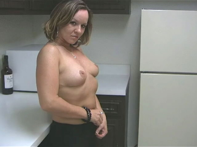 Sensual Blond Wifey Tessa Fondling Her Wonderful Bod With Passion Within The Kitchen