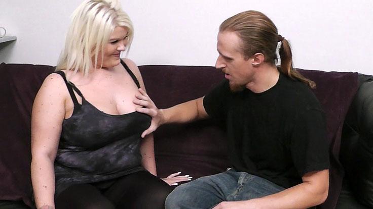 Ash-blonde Bbw Plows A Stranger