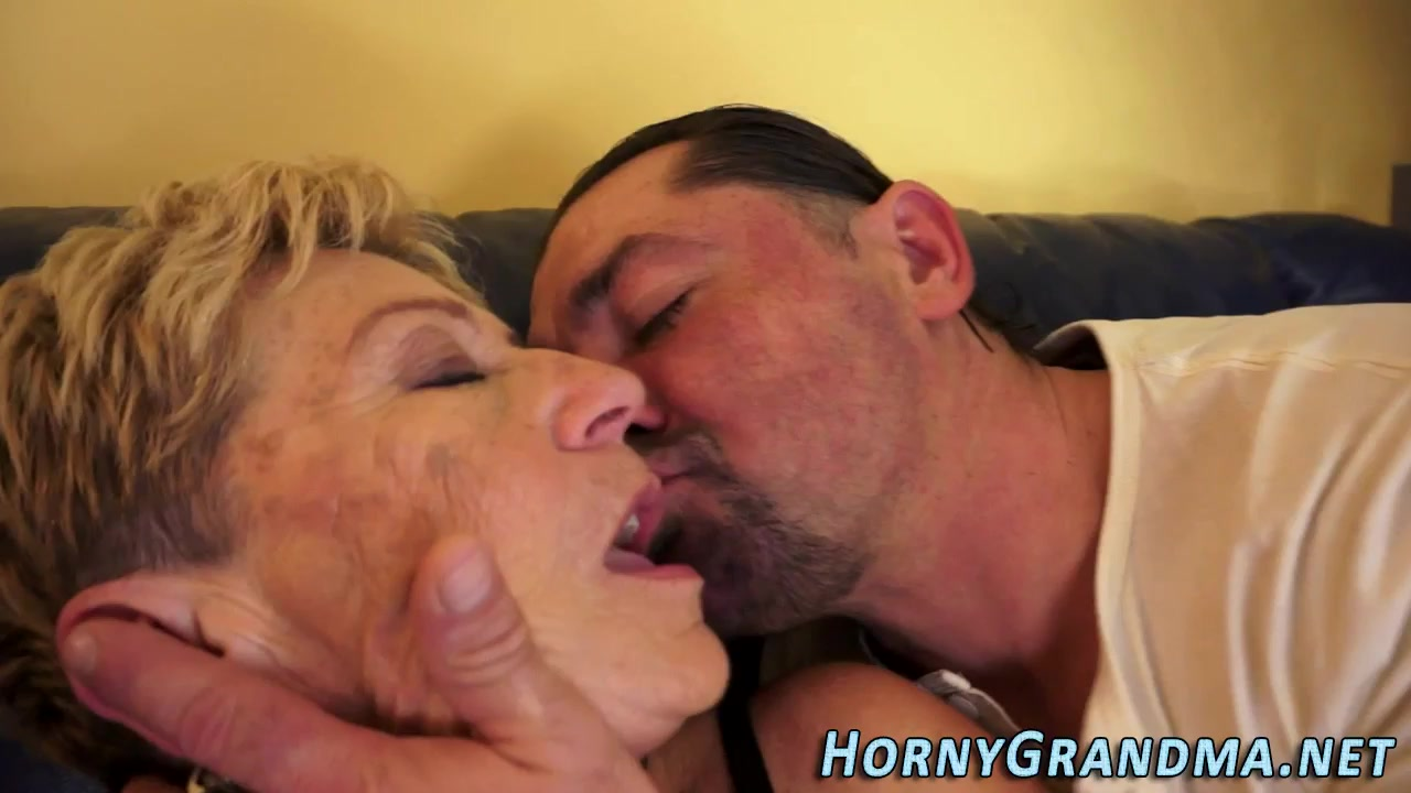 Plowed Elder Dame Takes Jizz