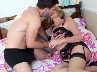 Lusty Big-boobed Mature Ravages A Youthfull Dude