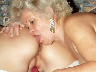 Molten Old Ladies Frolicking With A Faux-cock